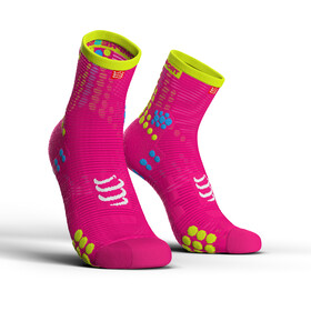 Compressport Pro Racing V3.0 Run High - Calcetines Running - rosa